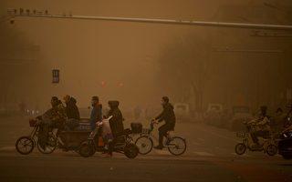 10年最严重沙尘暴袭中国 北京漫天黄沙