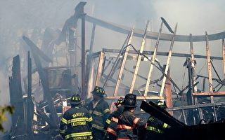 组图:纽约州养老院大火 造成一死一失踪