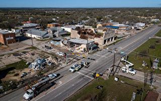 組圖:德州遭遇強風襲擊 百年建築物受損