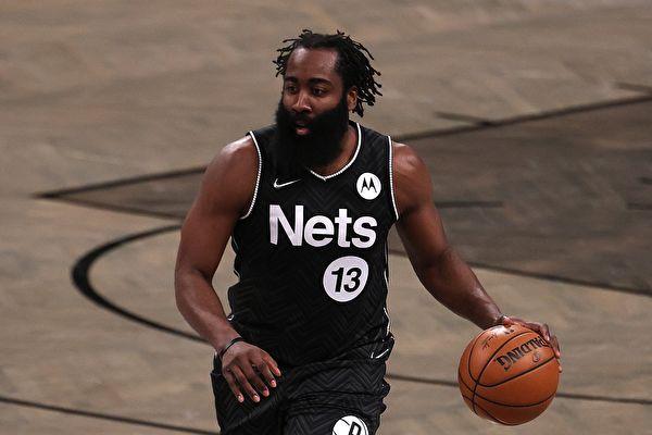 NBA:哈登加盟后九次三双 篮网主场胜活塞