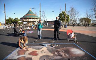 """橙县""""希望之城""""展街头艺术祝大家健康"""