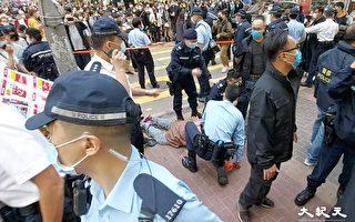 【突发】警方突封贤学思政街站 警员与市民口角 拘捕一名男子