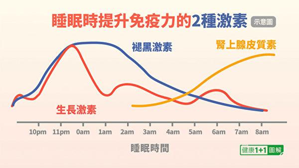 在睡眠中,體內分泌2種提升免疫力的重要激素:生長激素和褪黑激素。(健康1+1/大紀元)