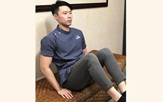 用双手支撑身体,将脚往身体内缩使腹肌收缩,有助瘦肚子。(杨宗翰提供)