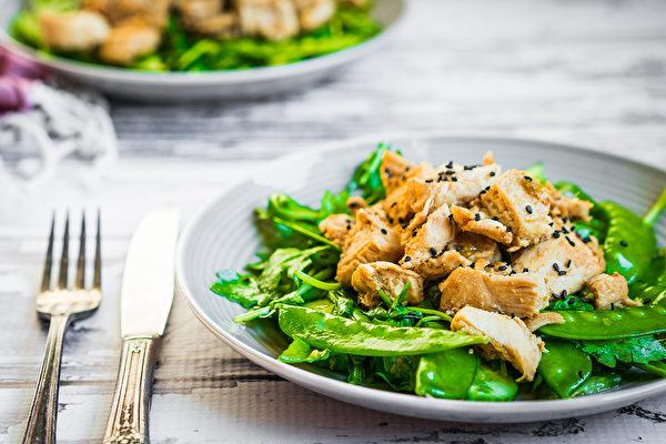 雞胸肉、蔬菜等「乾淨飲食」不易讓人大吃特吃。可讓減重和維持體重更容易達成。(Shutterstock)