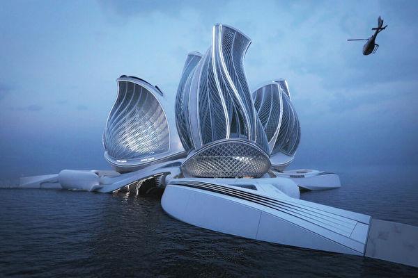 惊人设计 海上漂浮站利用潮汐能净化海洋