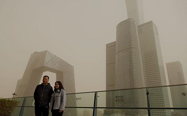 3月28日,北京再次出现沙尘暴。(NOEL CELIS/AFP via Getty Images)