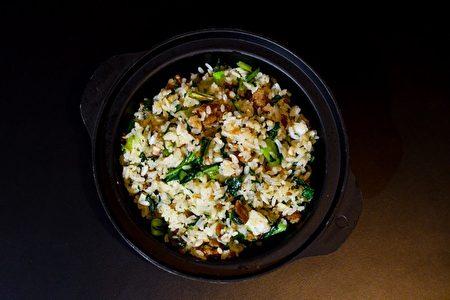 上海菜饭粒粒分明。