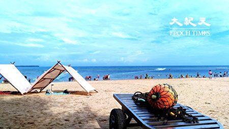 澎湖熱情地的陽光與沙灘。