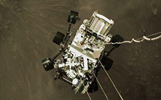 NASA公布毅力號登陸火星一刻俯視圖