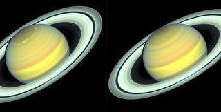 哈勃望远镜目睹土星变色