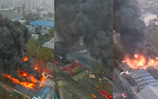 西安一建材门面房起火 过火面积450平方米