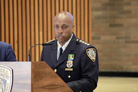 圖為紐約市警局總警司哈里森(Chief Rodney Harrison)。