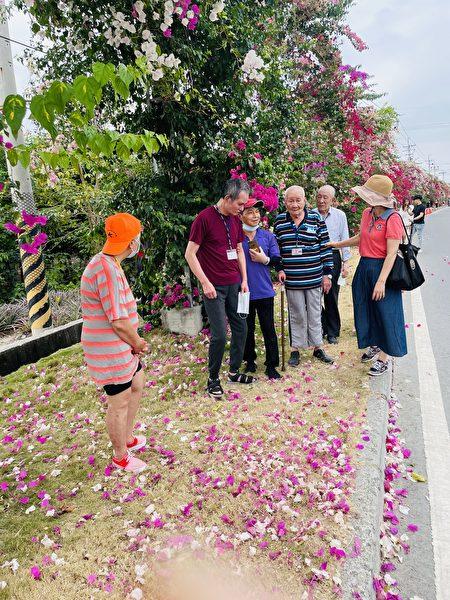 彰化榮家住民走出戶外享受大自然風光。