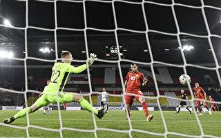 组图:世界杯欧洲预赛 北马其顿2:1击败德国