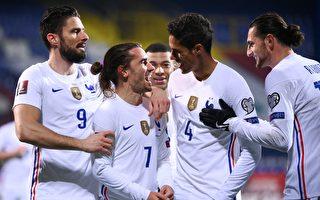 组图:世界杯欧洲预赛D组 法国以1:0胜波黑