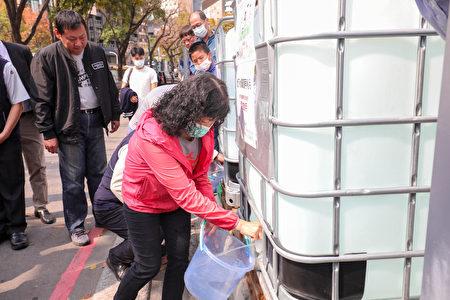 勤美建設工地民眾取水處。