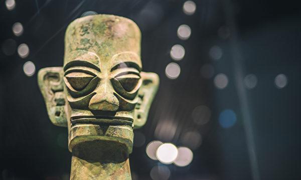 四川广汉三星堆出土的青铜人头。(ShutterStock)