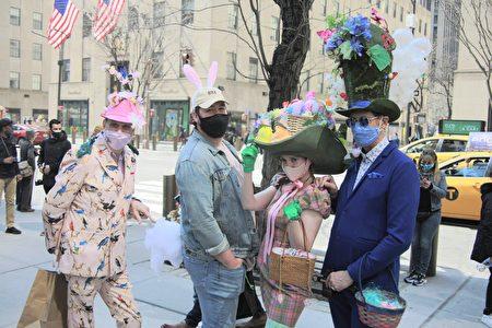 纽约民众盛装打扮,庆祝复活节。