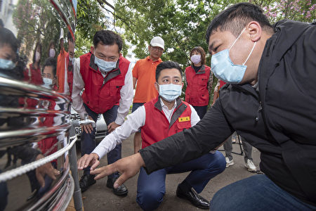 6日開始,新竹市中隘里、南港里部分地區進入供5停2階段,為協助停水家戶,市府已完成3處供水站設置。