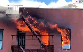 皇后区杰克逊高地公寓楼7级大火  9人伤