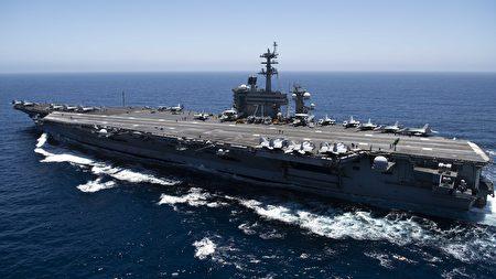 美軍4日派遣羅斯福號(USS Roosevelt)航艦戰鬥群經馬六甲海峽駛入南海活動。。