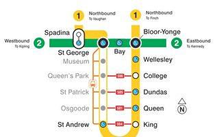 多倫多市中心地鐵部分路段將關閉10天