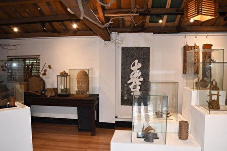 賴傳莊的陶藝展覽空間。