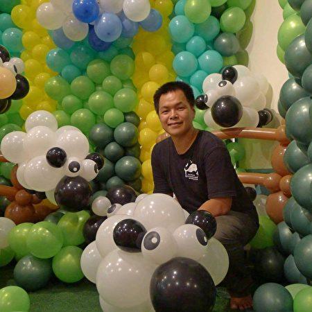氣球裝置藝術達人黃金祥。