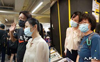 香港大紀元主持人現身市集 讀者到場支持籲繼續敢言
