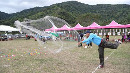 全国原住民传统射箭比赛,同时进行传统撒网竞技。