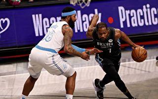 NBA常規賽:洛杉磯湖人殘陣客場輕取籃網