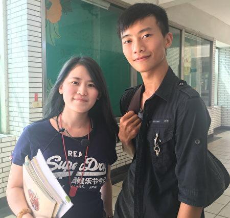 大興高中特教老師張倍純帶出的第一年畢業生阿宏(右)已是電腦工程。
