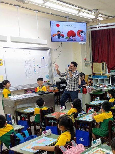 外籍教師生動的教學。