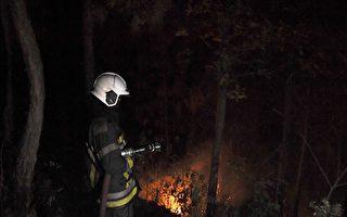 组图:尼泊尔山火延烧 至少5人死亡