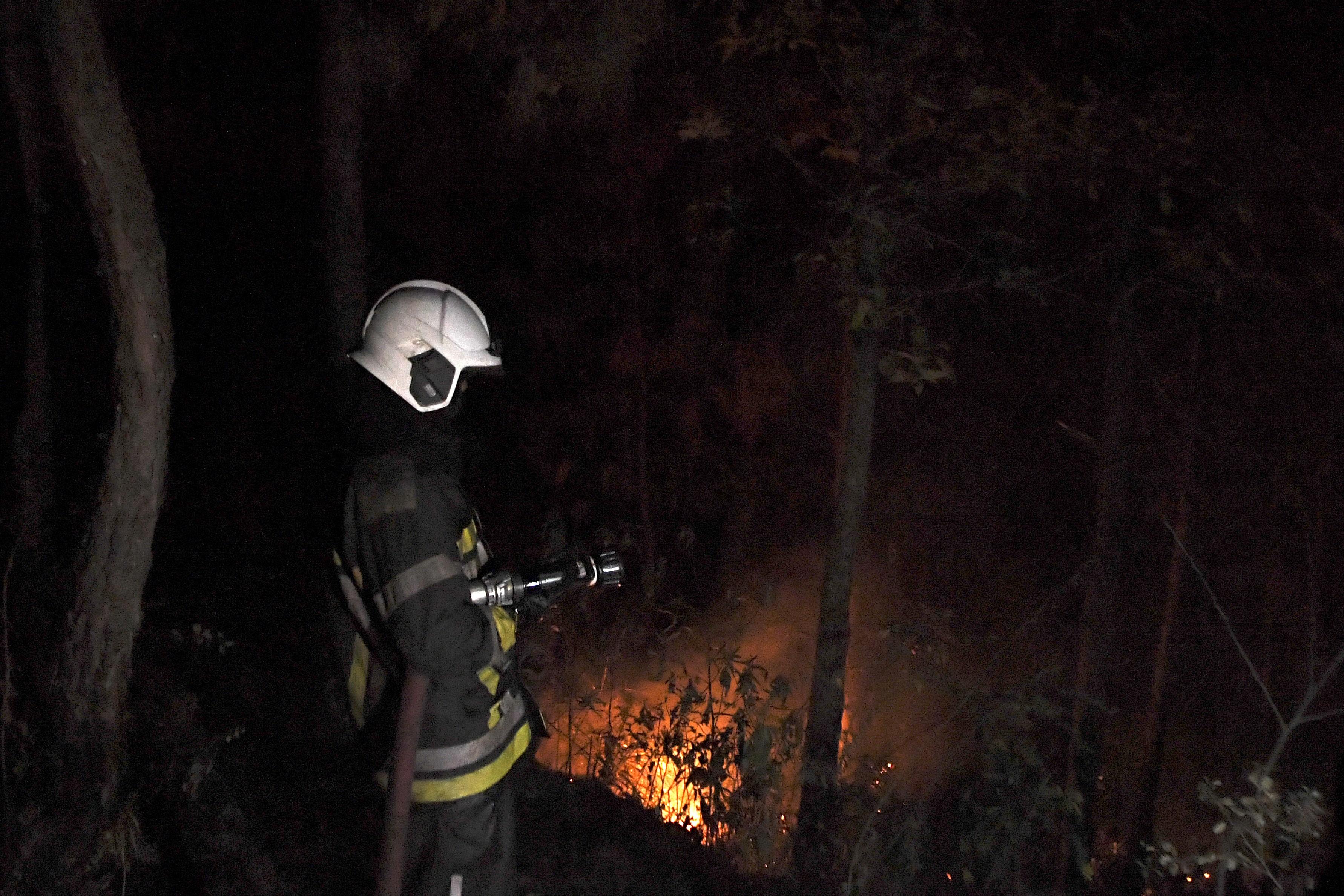 組圖:尼泊爾山火延燒 至少5人死亡