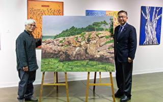 李文謙個展開幕 「清淨如水」畫作捐贈中大