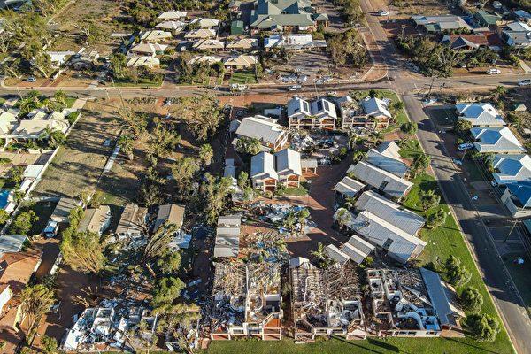 組圖:熱帶風暴侵襲西澳 近三萬戶停電