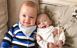 怀孕三周后再受孕 英国妈平安诞下罕见双胞胎