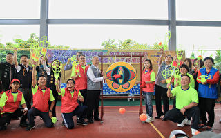 旋風球運動發展協會捐贈球具     竹興國小光電球場啟用