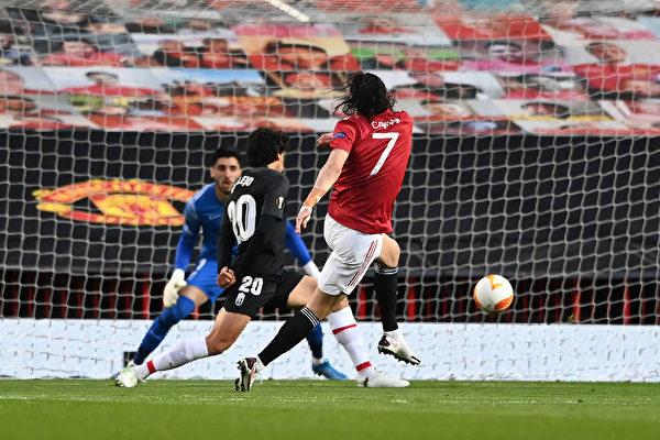 组图:欧联杯1/4决赛次回合 曼联总分4:0晋级