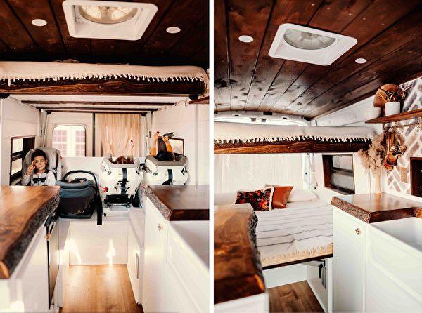 "id12887467 et van trip 289 78 600x446 - Converted vans into ""European huts"" for traveling parents   Mini House   Epoch Times"