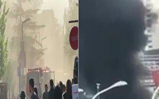 北京近日连爆火灾 上海东方明珠附近现浓烟