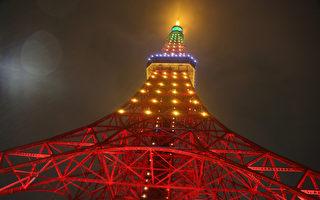 东京铁塔首次点亮台湾凤梨光雕