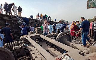 组图:埃及火车出轨事故酿11死98伤
