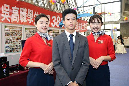 东吴高职李俊亿与东吴亲善大使。