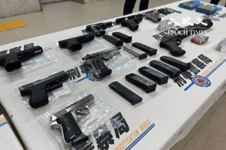 刑事警察局長黃嘉祿表示,這次專案查獲涉嫌違反《槍砲條例》者共106人,掃蕩9處改槍場所、緝獲非法槍枝128枝。