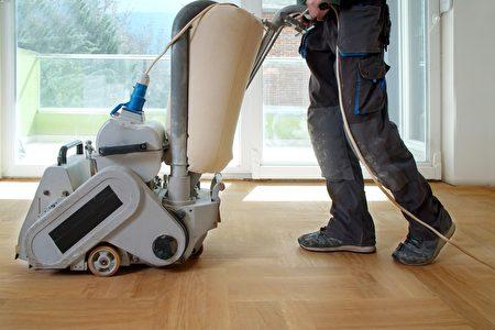 Sanding,Hardwood,Floor,With,The,Grinding,Machine.,Repair,In,The