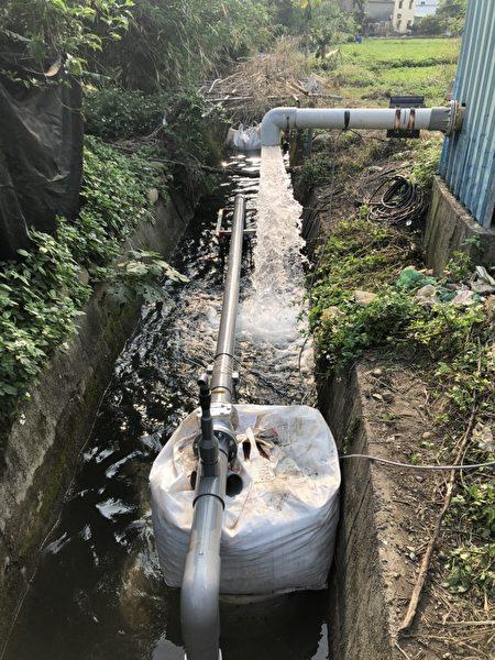 白沙屯圳2口水井并入备援管路施工。