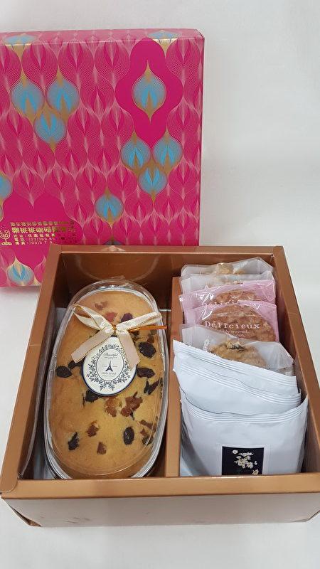 乐桃桃母亲节礼盒:磅蛋糕+手工饼干+养生茶饮